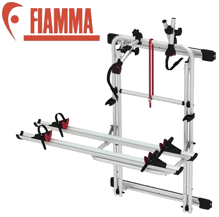 Fiamma rear door mounted bike rack.