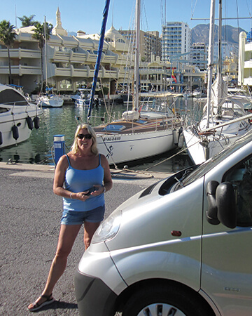 Scot and Jane Naylor travelling through France and the east coast of Spain.