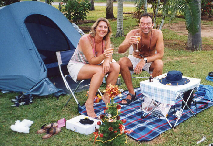 Scot and Jane Naylor camping in Australia.